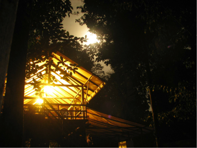 The kitchen carbet by moonlight. (Photo: S. McCann)