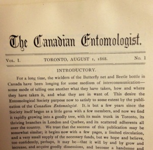 The Canadian Entomologist 1(1) - 1868