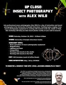 Alex Wild Guelph Photography Workshop Poster