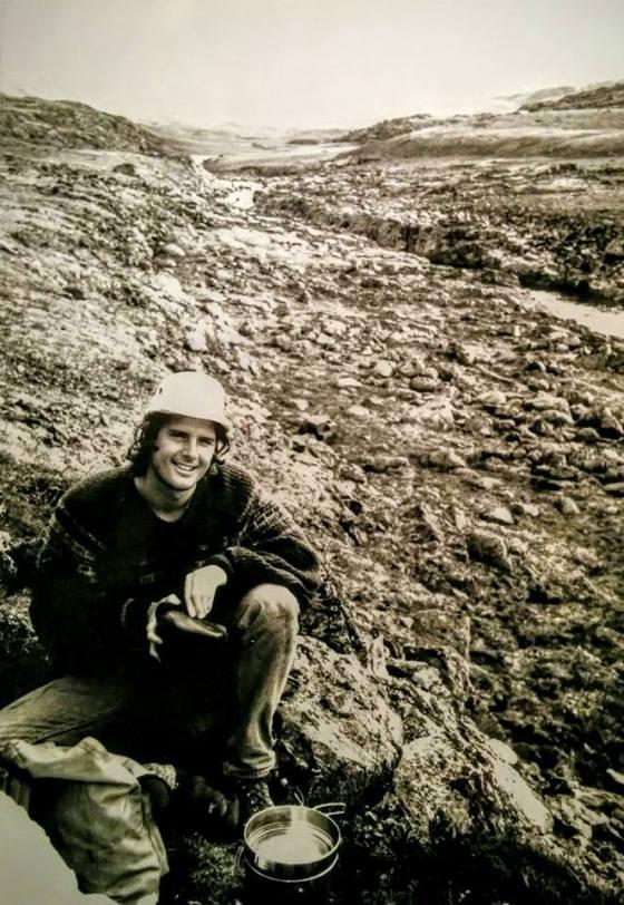 The author (1990), Truelove Lowlands, Devon Island. (photo by Christine Earnshaw)