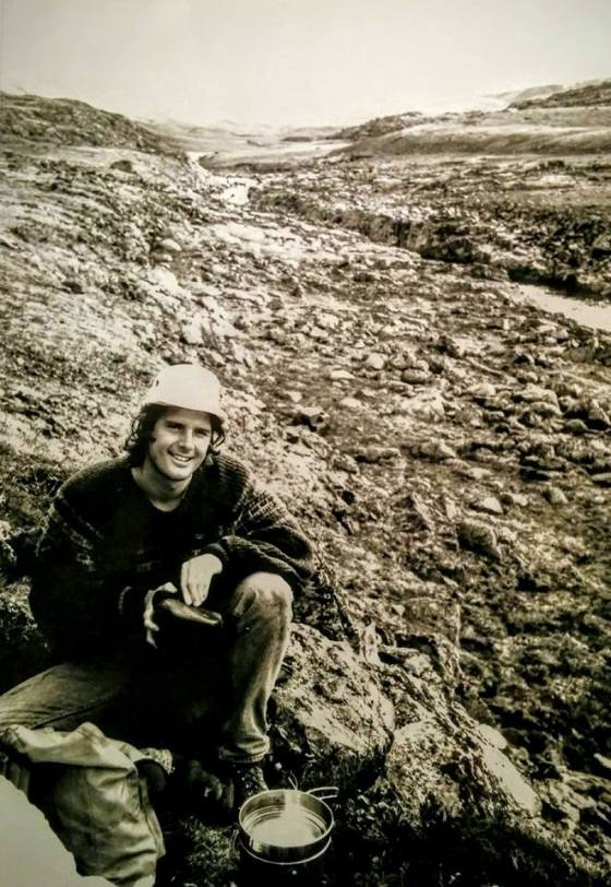 The author (1990), Truelove Lowlands, Devon Island. (photo by Christine Earnshaw)